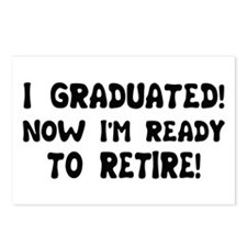 Funny Graduation Retirement T Postcards (Package o