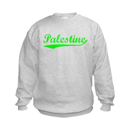 Vintage Palestine (Green) Kids Sweatshirt