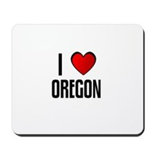 I LOVE OREGON Mousepad