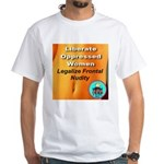 Liberate Oppressed Women White T-Shirt