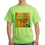 Liberate Oppressed Women Green T-Shirt