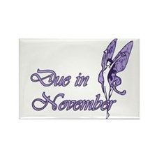 Due November Purple W Fairy Rectangle Magnet (100