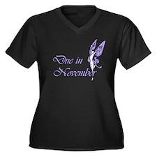 Due November Purple W Fairy Women's Plus Size V-Ne