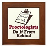 Proctologist Proctology Joke Framed Tile