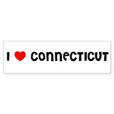 I LOVE CONNECTICUT Bumper Bumper Sticker