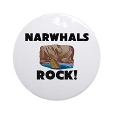 Narwhals Rock! Ornament (Round)