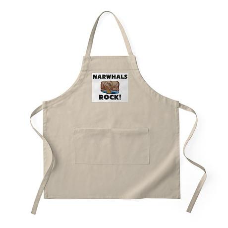 Narwhals Rock! BBQ Apron