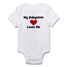 My Babysitter Loves Me! heart Infant Bodysuit