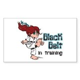 Black Belt in Training Rectangle Sticker 50 pk)