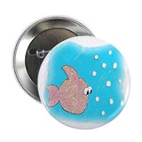 "Katey the Fish 2.25"" Button"