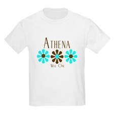 Athena - Blue/Brown Flowers T-Shirt