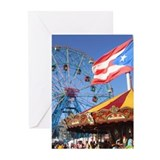 Wonder Wheel Puerto Rico Greeting Cards (Pk of 10)