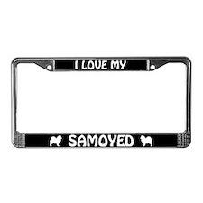I Love My Samoyed License Plate Frame