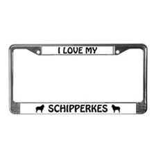 I Love My Schipperkes (PLURAL) License Plate Frame