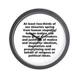 Aldous huxley quotation Wall Clock