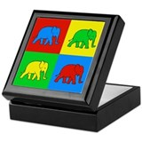 Pop Art Elephant Keepsake Box