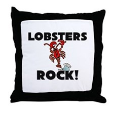 Lobsters Rock! Throw Pillow