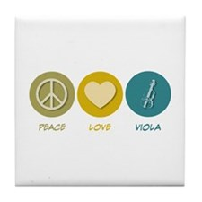 Peace Love Viola Tile Coaster