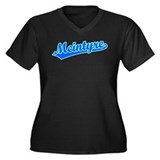 Retro Mcintyre (Blue) Women's Plus Size V-Neck Dar