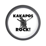 Kakapos Rock! Wall Clock