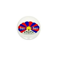Free Tibet - Human Rights Mini Button (10 pack)