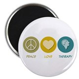 Peace Love Therapy Magnet