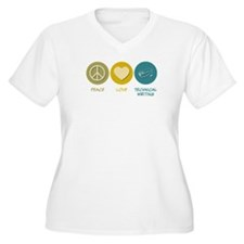 Peace Love Technical and Business Writing T-Shirt