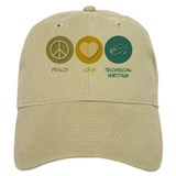 Peace Love Technical and Business Writing Cap