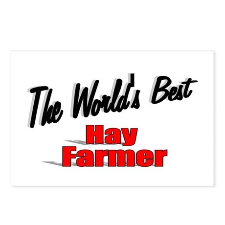 """The World's Best Hay Farmer"" Postcards (Package o"