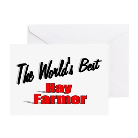 """The World's Best Hay Farmer"" Greeting Cards (Pk o"
