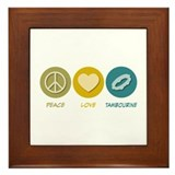 Peace Love Tambourine Framed Tile
