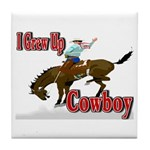 Cowboy Shirts Tile Coaster