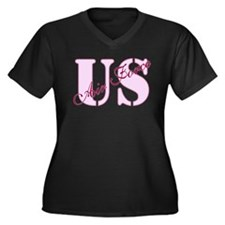 US Air Force Women's Plus Size V-Neck Dark T-Shirt