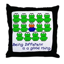 Being Different 1 (FROGS) Throw Pillow