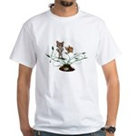 Cat Fish Bowl White T-Shirt