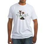 Cat Fish Bowl Fitted T-Shirt