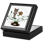 Cat Fish Bowl Keepsake Box