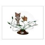 Cat Fish Bowl Small Poster