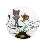 "Cat Fish Bowl 3.5"" Button"