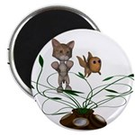 "Cat Fish Bowl 2.25"" Magnet (10 pack)"