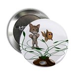 "Cat Fish Bowl 2.25"" Button (100 pack)"