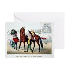 Antique Horse Racing Greeting Cards (Pk of 10)