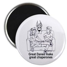 C chaperone Great Dane Magnet