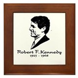 Bobby Kennedy Profile Framed Tile