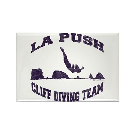 La Push Cliff Diving Team TM Rectangle Magnet