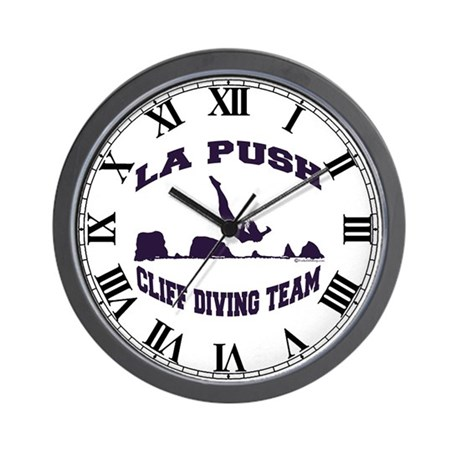 La Push Cliff Diving Team TM Wall Clock