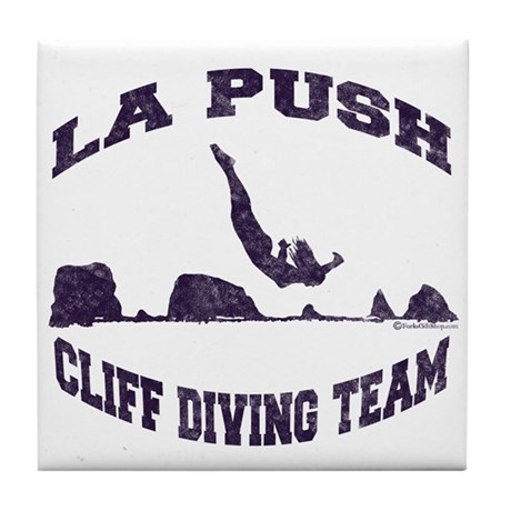La Push Cliff Diving Team TM Tile Coaster