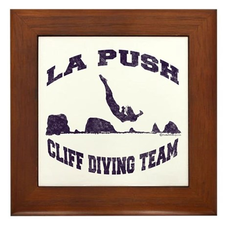 La Push Cliff Diving Team TM Framed Tile