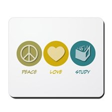 Peace Love Study Mousepad