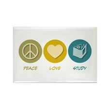 Peace Love Study Rectangle Magnet